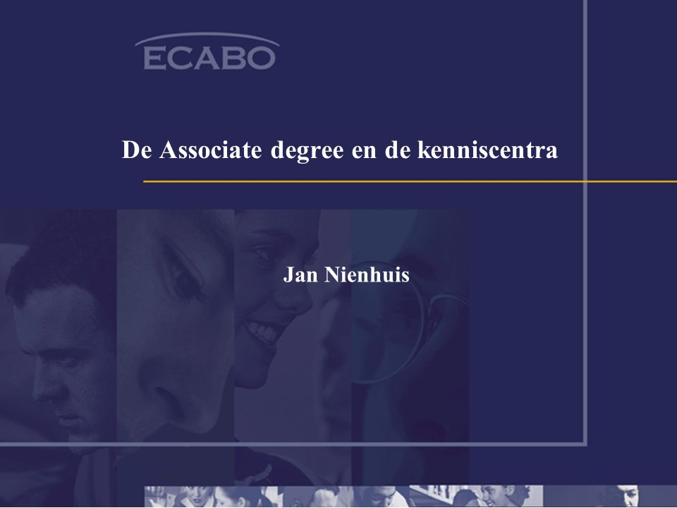 De Associate degree en de kenniscentra Jan Nienhuis