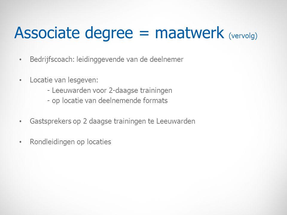Bedrijfscoach: leidinggevende van de deelnemer Locatie van lesgeven: - Leeuwarden voor 2-daagse trainingen - op locatie van deelnemende formats Gastsp