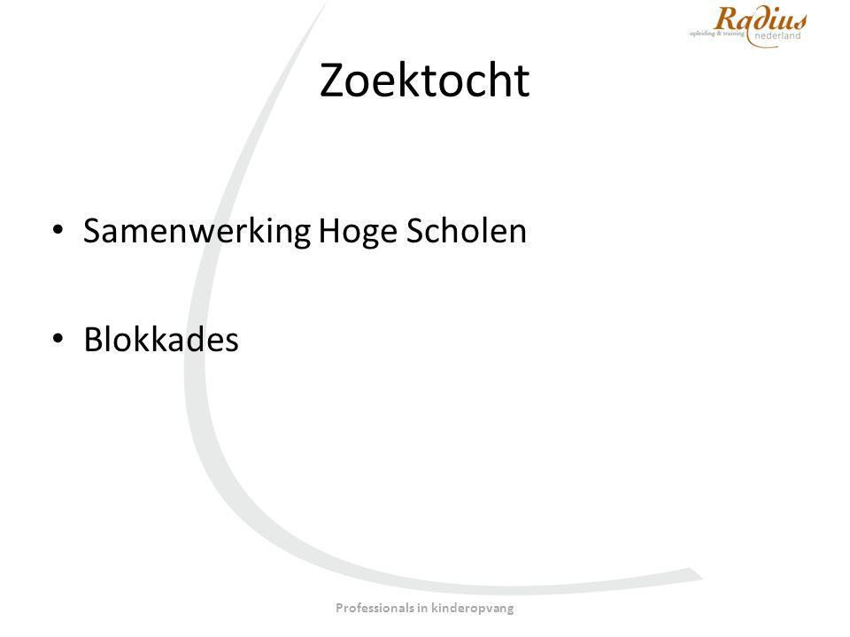 Zoektocht Samenwerking Hoge Scholen Blokkades Professionals in kinderopvang