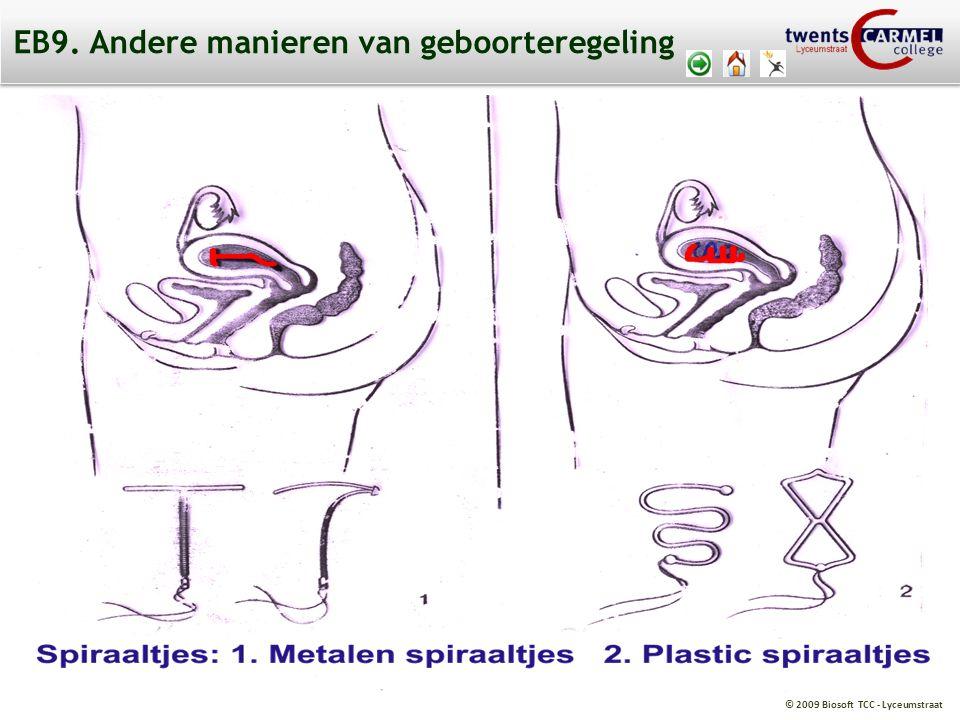 © 2009 Biosoft TCC - Lyceumstraat EB9. Andere manieren van geboorteregeling