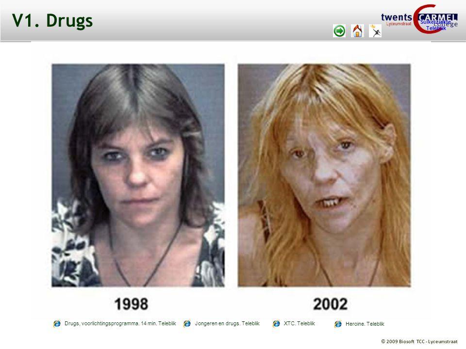 © 2009 Biosoft TCC - Lyceumstraat Suikerziekte Teleblik V1. Drugs Drugs, voorlichtingsprogramma. 14 min. TeleblikJongeren en drugs. TeleblikXTC. Teleb