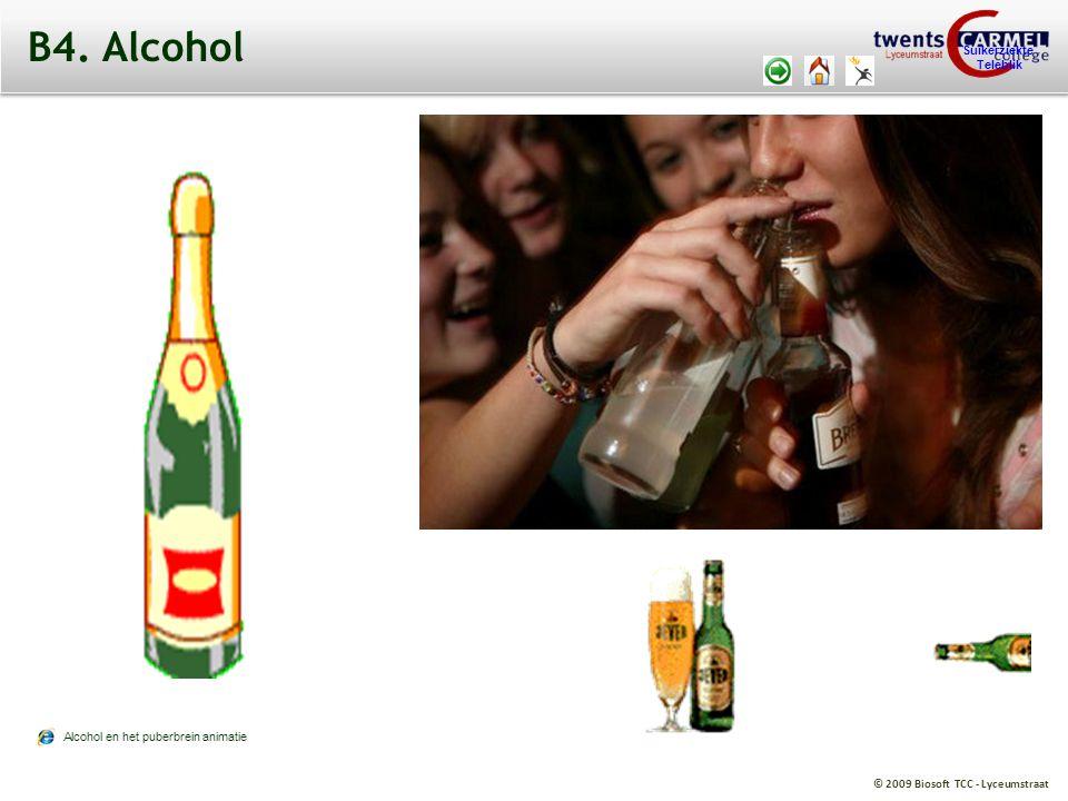 © 2009 Biosoft TCC - Lyceumstraat Suikerziekte Teleblik B4. Alcohol Alcohol en het puberbrein animatie