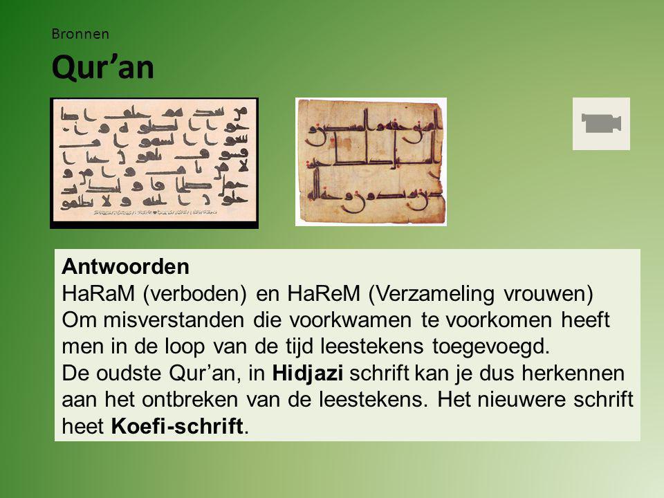 Bronnen Qur'an Vragen 3.