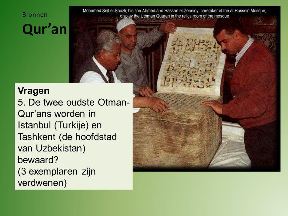 Bronnen Qur'an Vragen 5.