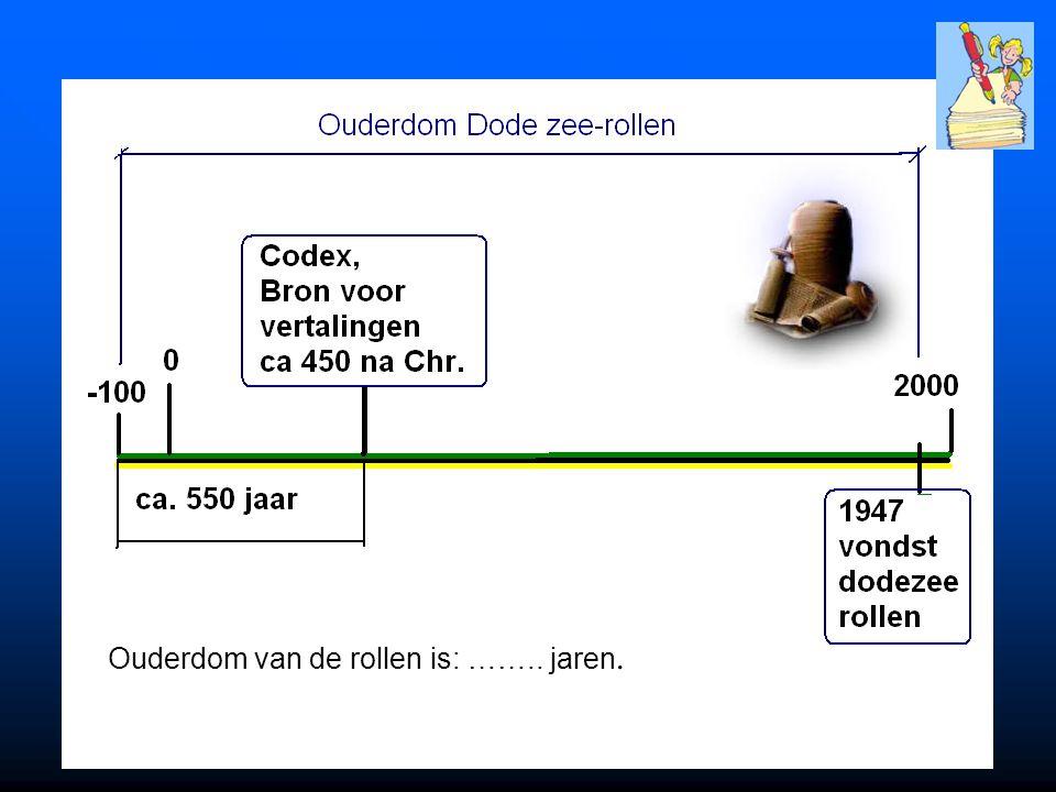 De Onveranderlijke Tenach De oudste complete teksten waren ongeveer van 450 na Christus.