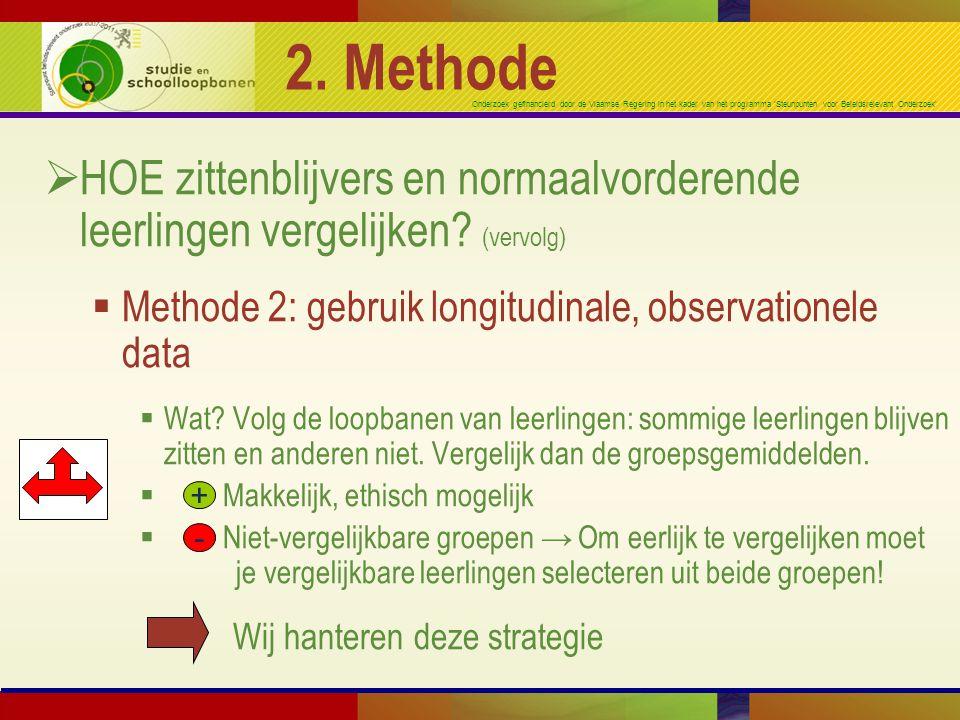 Onderzoek gefinancierd door de Vlaamse Regering in het kader van het programma 'Steunpunten voor Beleidsrelevant Onderzoek' 2. Methode  HOE zittenbli