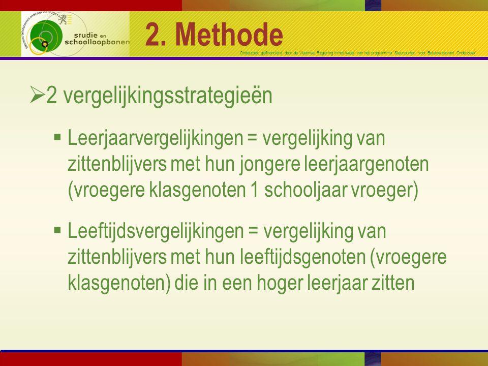 Onderzoek gefinancierd door de Vlaamse Regering in het kader van het programma 'Steunpunten voor Beleidsrelevant Onderzoek' 2. Methode  2 vergelijkin