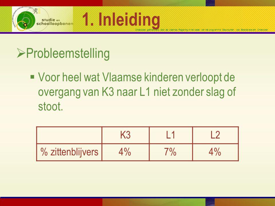 Onderzoek gefinancierd door de Vlaamse Regering in het kader van het programma 'Steunpunten voor Beleidsrelevant Onderzoek' 1. Inleiding  Probleemste