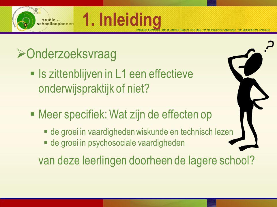 Onderzoek gefinancierd door de Vlaamse Regering in het kader van het programma 'Steunpunten voor Beleidsrelevant Onderzoek' 1. Inleiding  Onderzoeksv
