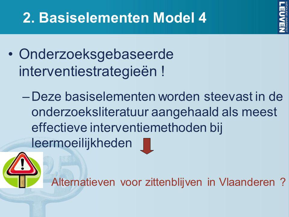2.Basiselementen Model 4 Onderzoeksgebaseerde interventiestrategieën .