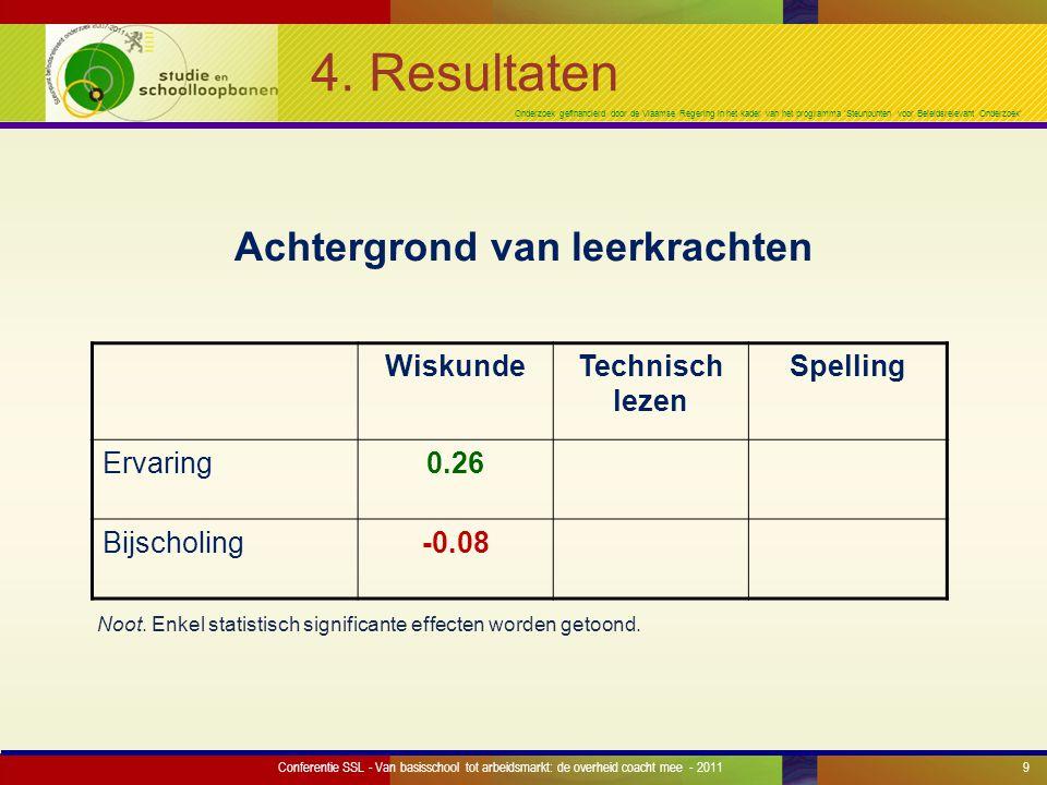 Onderzoek gefinancierd door de Vlaamse Regering in het kader van het programma 'Steunpunten voor Beleidsrelevant Onderzoek' 4.