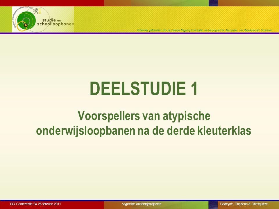 Onderzoek gefinancierd door de Vlaamse Regering in het kader van het programma 'Steunpunten voor Beleidsrelevant Onderzoek' Doorstroming: schoolbeleid (subjectiviteit.