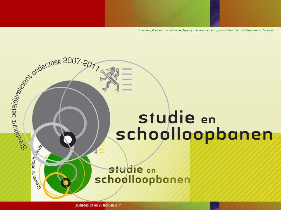 Onderzoek gefinancierd door de Vlaamse Regering in het kader van het programma 'Steunpunten voor Beleidsrelevant Onderzoek' Studiedag 24 en 25 februari 2011 % gediplomeerden