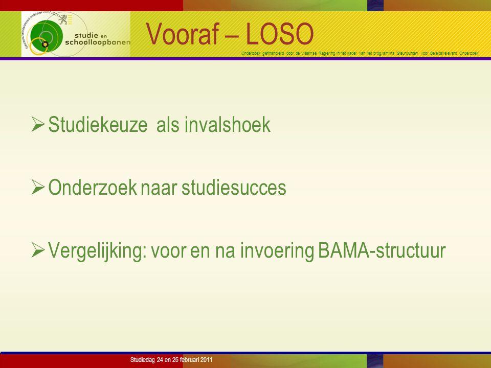 Onderzoek gefinancierd door de Vlaamse Regering in het kader van het programma 'Steunpunten voor Beleidsrelevant Onderzoek' Studiedag 24 en 25 februari 2011 Conclusie  Belangrijke predictoren m.b.t.