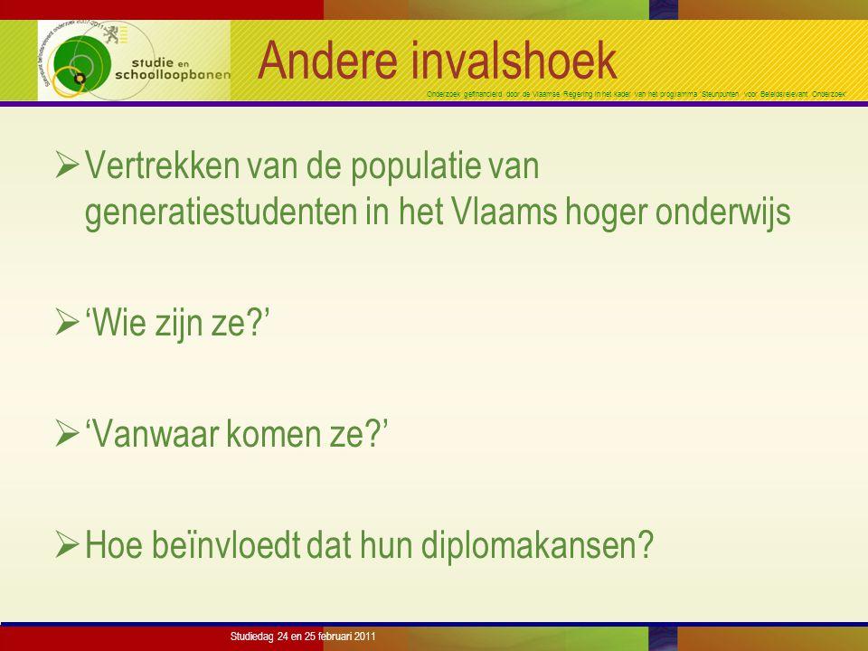 Onderzoek gefinancierd door de Vlaamse Regering in het kader van het programma 'Steunpunten voor Beleidsrelevant Onderzoek' Studiedag 24 en 25 februari 2011 Resultaten: AB-HS