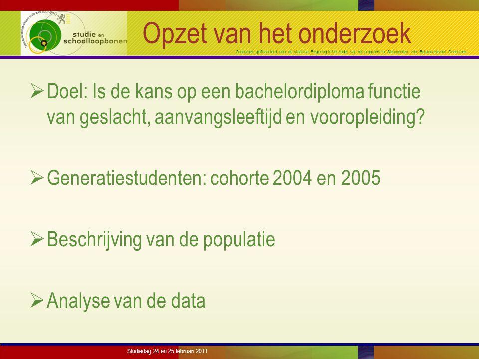 Onderzoek gefinancierd door de Vlaamse Regering in het kader van het programma 'Steunpunten voor Beleidsrelevant Onderzoek' Studiedag 24 en 25 februari 2011 Populatie - % mannen
