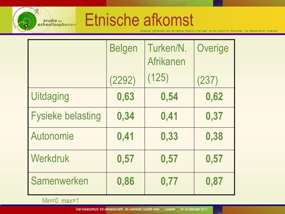 Onderzoek gefinancierd door de Vlaamse Regering in het kader van het programma 'Steunpunten voor Beleidsrelevant Onderzoek' Etnische afkomst Belgen (2