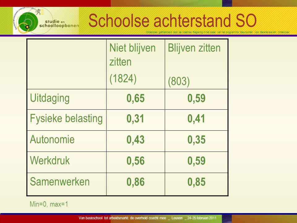 Onderzoek gefinancierd door de Vlaamse Regering in het kader van het programma 'Steunpunten voor Beleidsrelevant Onderzoek' Schoolse achterstand SO Ni