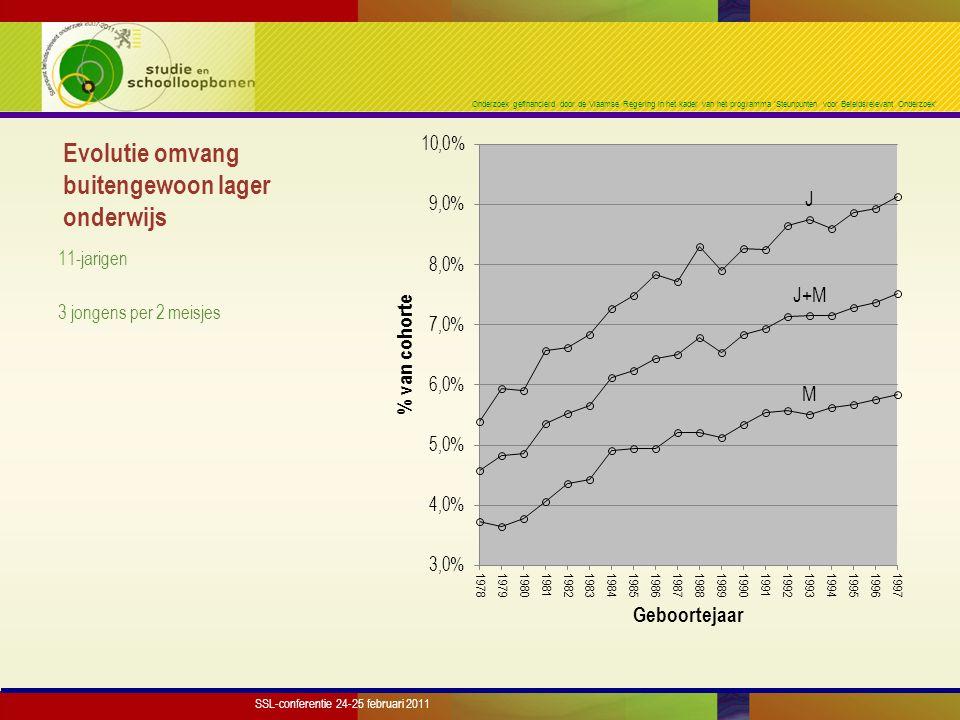 Onderzoek gefinancierd door de Vlaamse Regering in het kader van het programma 'Steunpunten voor Beleidsrelevant Onderzoek' Stroompatroon buitengewoon lager onderwijs Illustratie: jongens SSL-conferentie 24-25 februari 2011