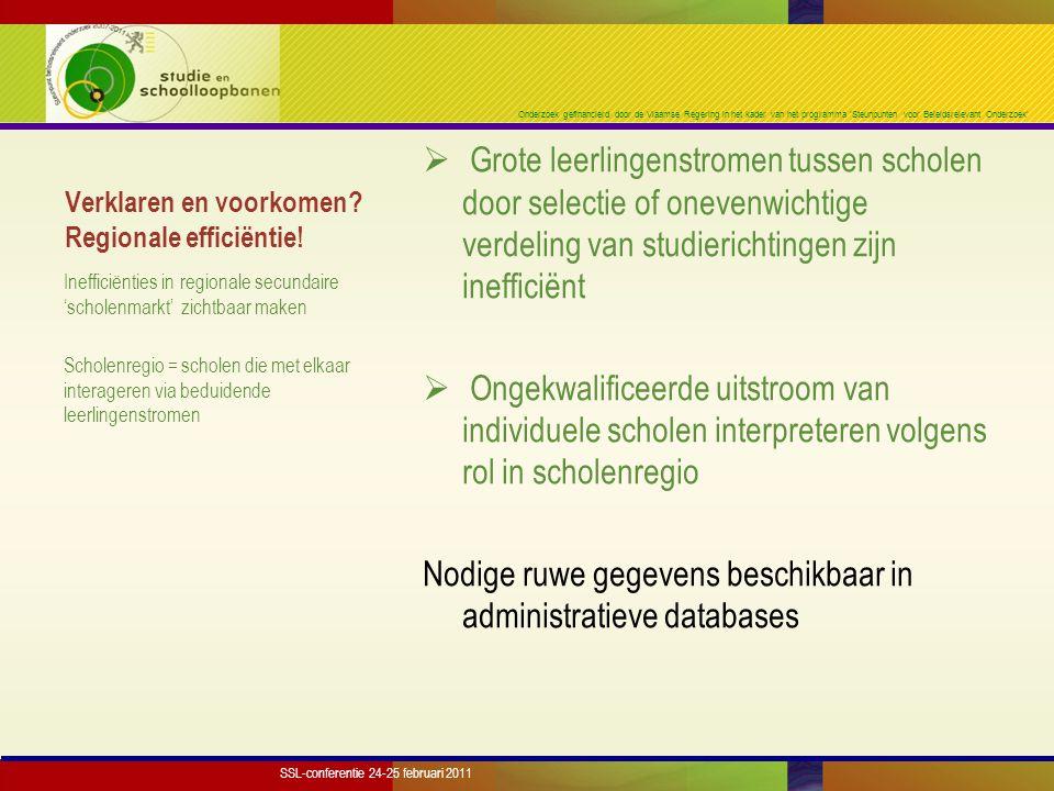 Onderzoek gefinancierd door de Vlaamse Regering in het kader van het programma 'Steunpunten voor Beleidsrelevant Onderzoek' Verklaren en voorkomen? Re