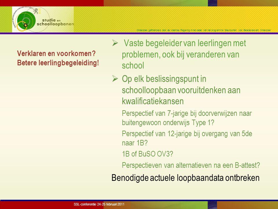 Onderzoek gefinancierd door de Vlaamse Regering in het kader van het programma 'Steunpunten voor Beleidsrelevant Onderzoek' Verklaren en voorkomen? Be