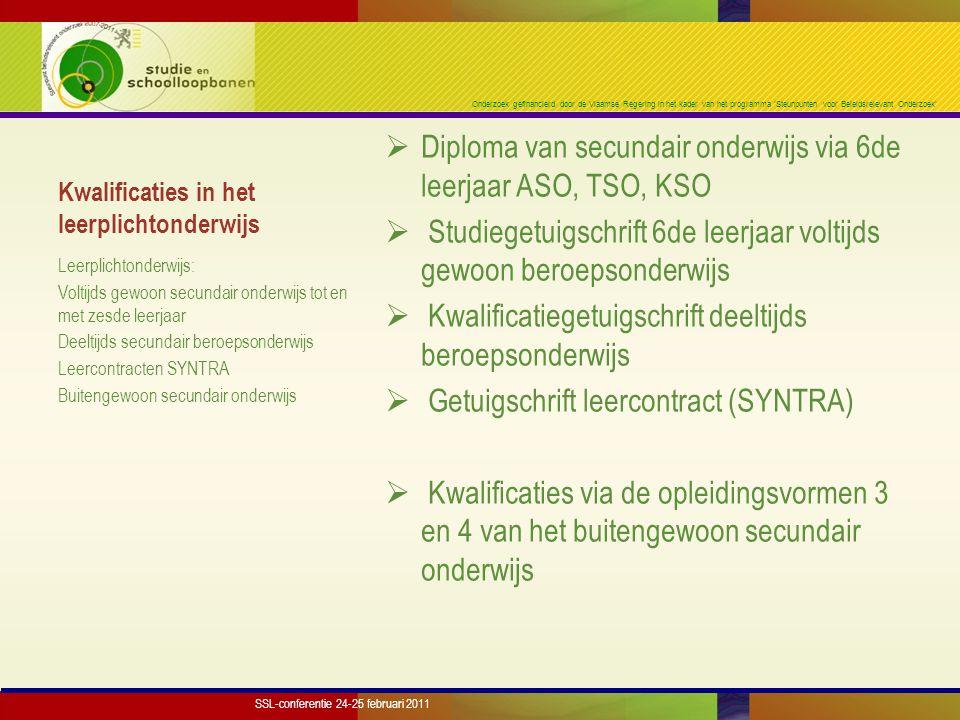 Onderzoek gefinancierd door de Vlaamse Regering in het kader van het programma 'Steunpunten voor Beleidsrelevant Onderzoek' Vroege schoolverlaters per kalenderjaar Jongens: van 14,5% naar 17,6% Meisjes: van 9,4% naar 10,5% J+M: van 12,0% naar 14,2% SSL-conferentie 24-25 februari 2011