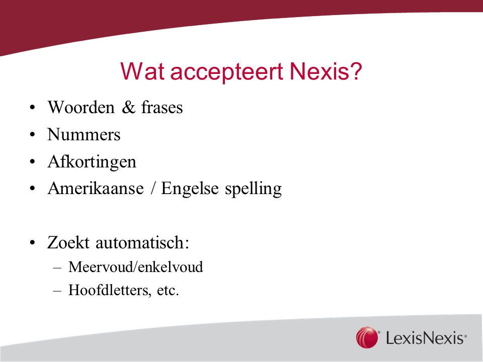 Together, We Can Wat accepteert Nexis.
