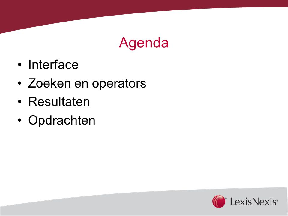 Together, We Can Agenda Interface Zoeken en operators Resultaten Opdrachten