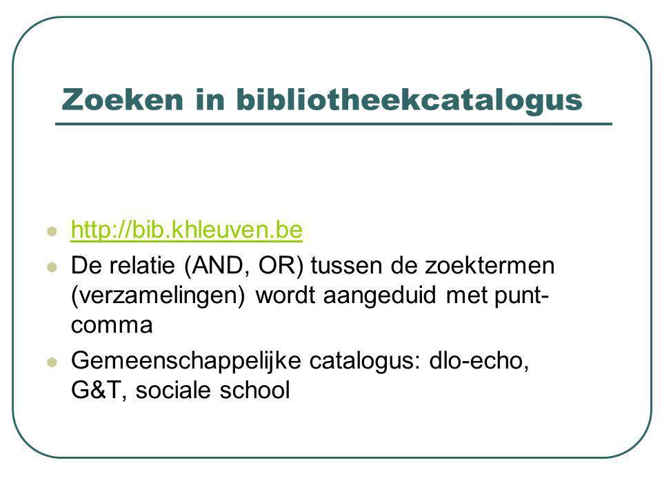 E-bibliotheken Verschil met bibcatalogus: een catalogus verwijst vooral naar de vindplaats van documenten (bv.