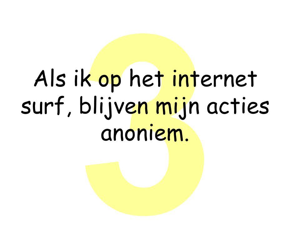 3 Als ik op het internet surf, blijven mijn acties anoniem.