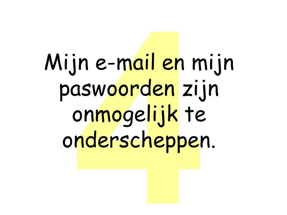 4 Mijn e-mail en mijn paswoorden zijn onmogelijk te onderscheppen.