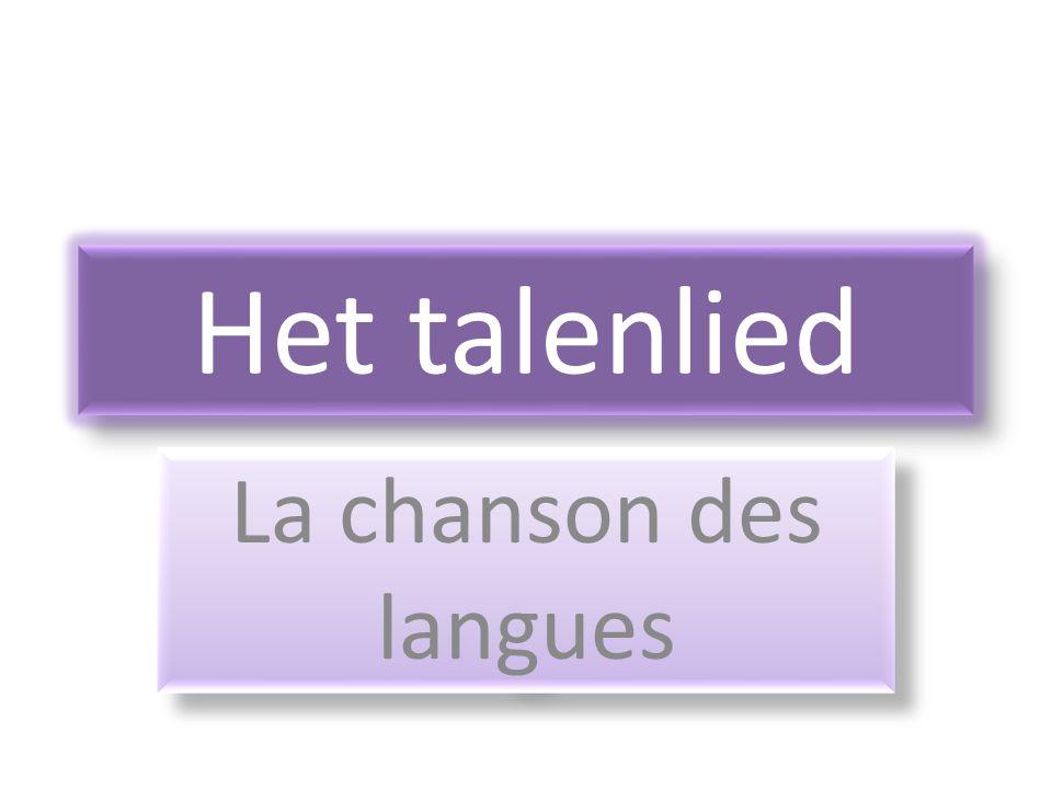 Het talenlied La chanson des langues