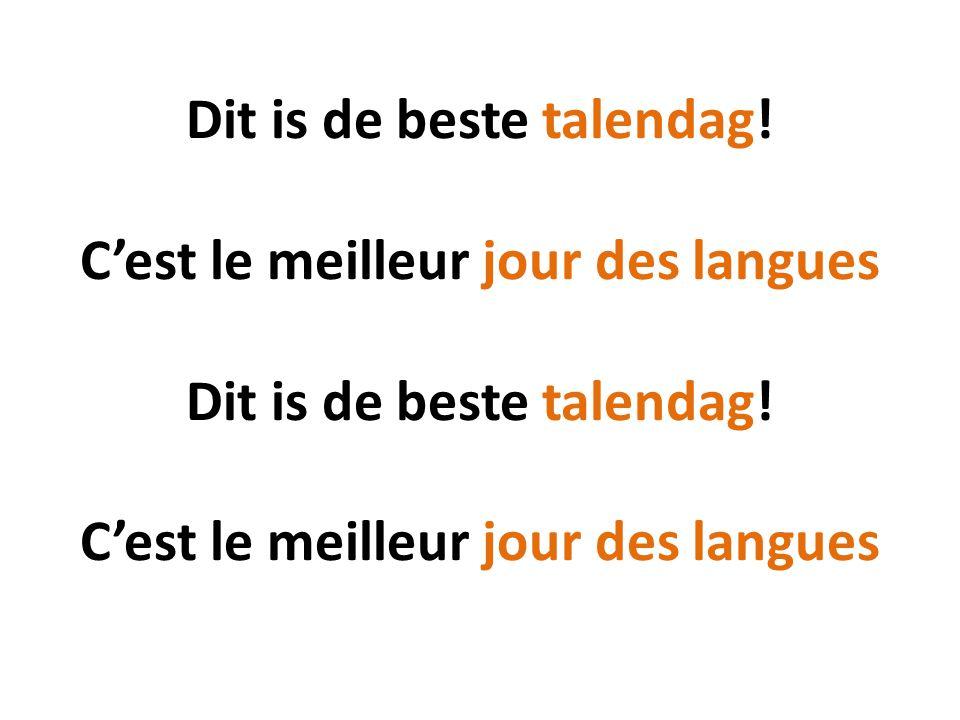 Dit is de beste talendag! C'est le meilleur jour des langues