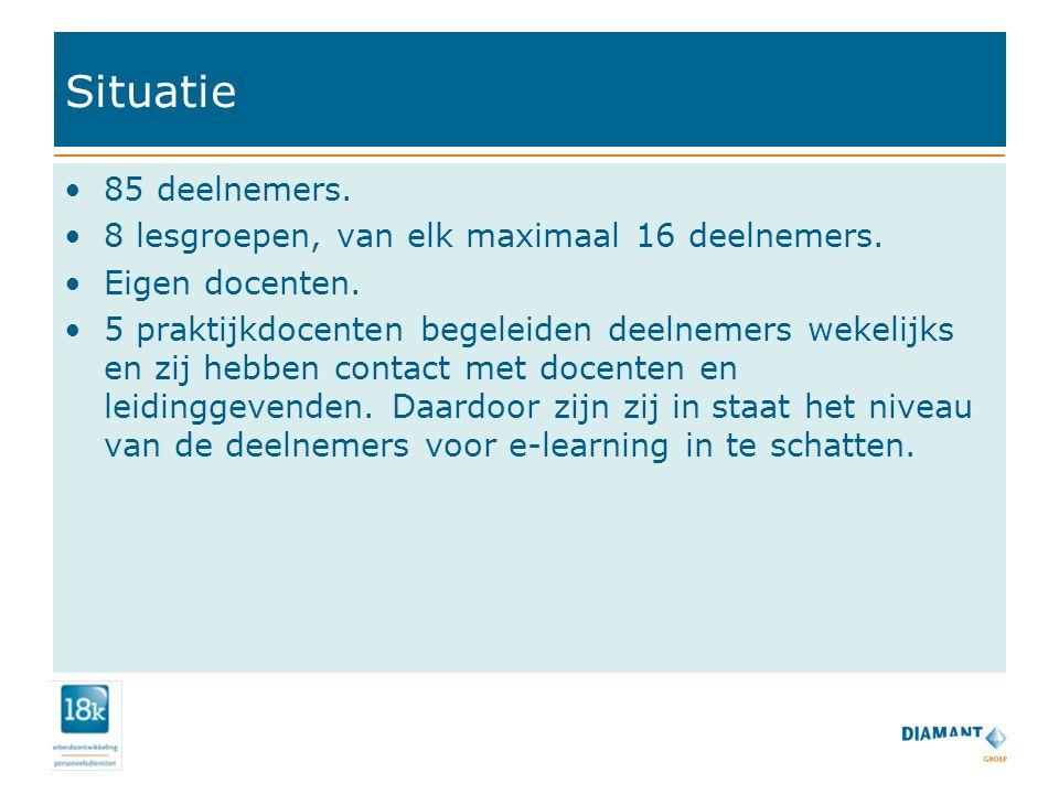 Aanpak www.oefenen.nl De praktijkdocenten zijn getraind in het gebruik van het programma.