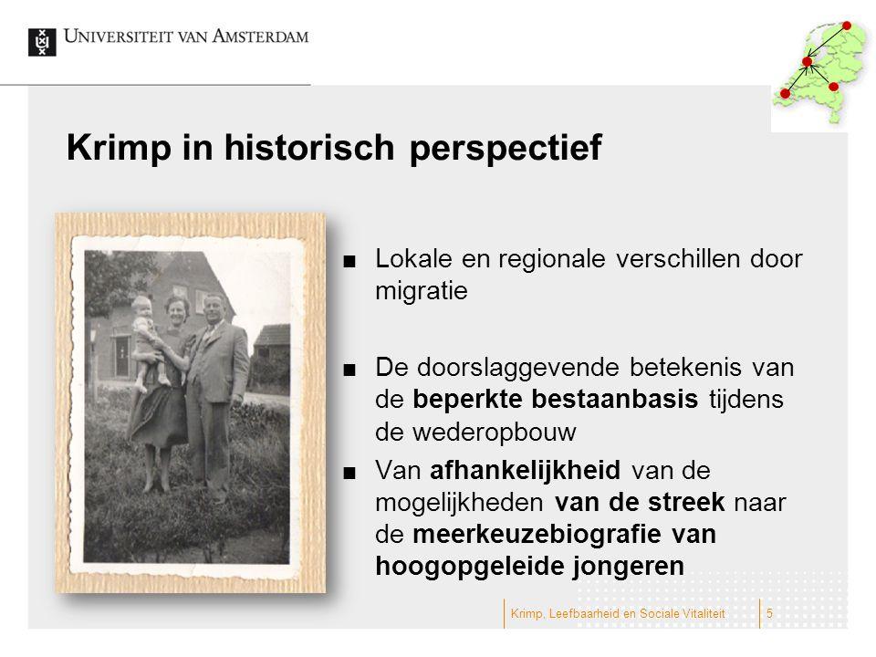 Krimp in historisch perspectief Lokale en regionale verschillen door migratie De doorslaggevende betekenis van de beperkte bestaanbasis tijdens de wed