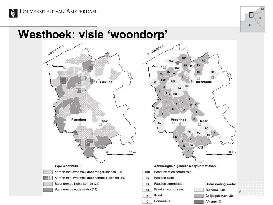 Van een autonoom dorp naar een sociaal vitaal woondorp 9 Westhoek: visie 'woondorp'