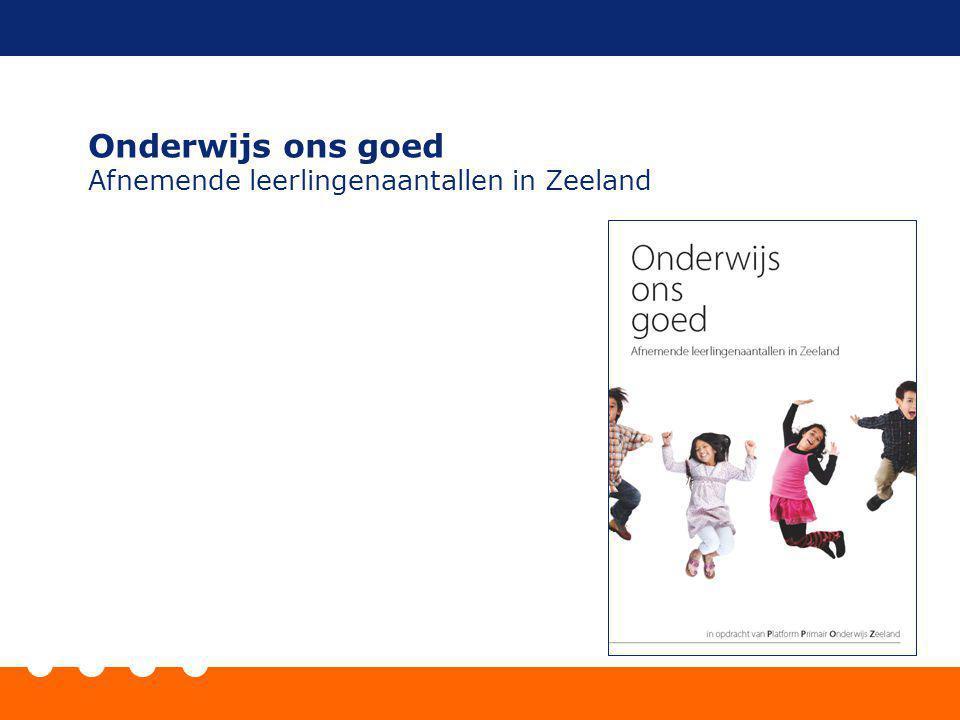 Onderwijs ons goed Afnemende leerlingenaantallen in Zeeland