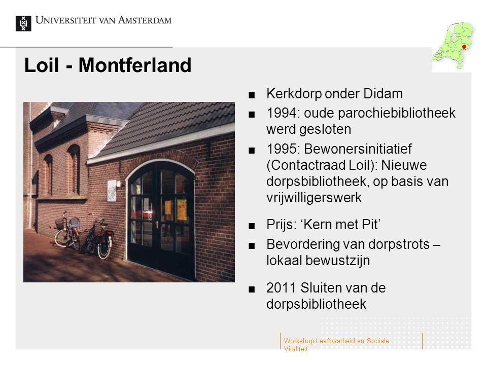 Loil - Montferland Kerkdorp onder Didam 1994: oude parochiebibliotheek werd gesloten 1995: Bewonersinitiatief (Contactraad Loil): Nieuwe dorpsbiblioth