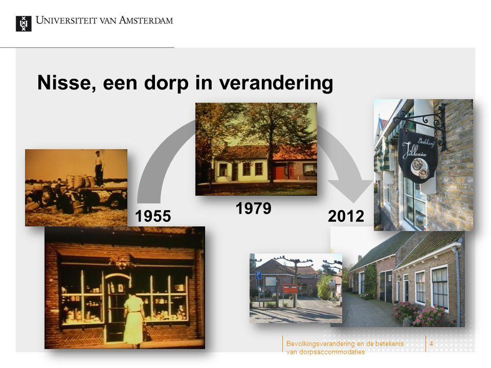 Nisse, een dorp in verandering Bevolkingsverandering en de betekenis van dorpsaccommodaties 4 1955 1979 2012