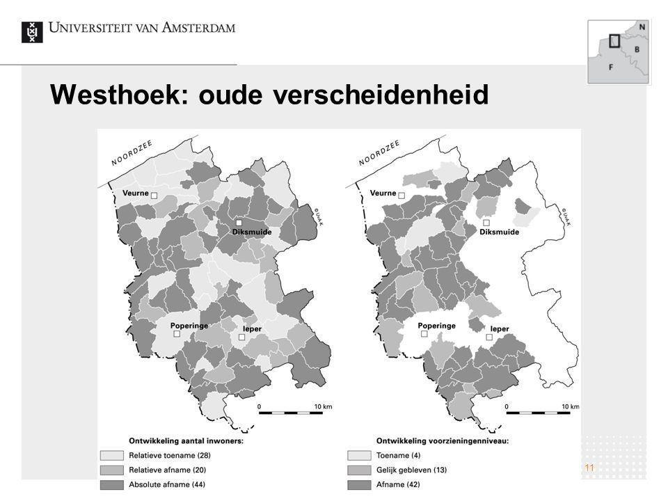 Westhoek: oude verscheidenheid Veranderingen op het Nederlandse platteland; naar een nieuwe verscheidenheid 11
