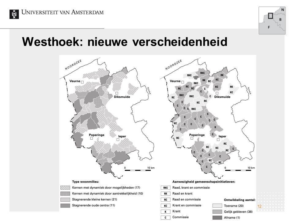 Westhoek: nieuwe verscheidenheid Veranderingen op het Nederlandse platteland; naar een nieuwe verscheidenheid 12
