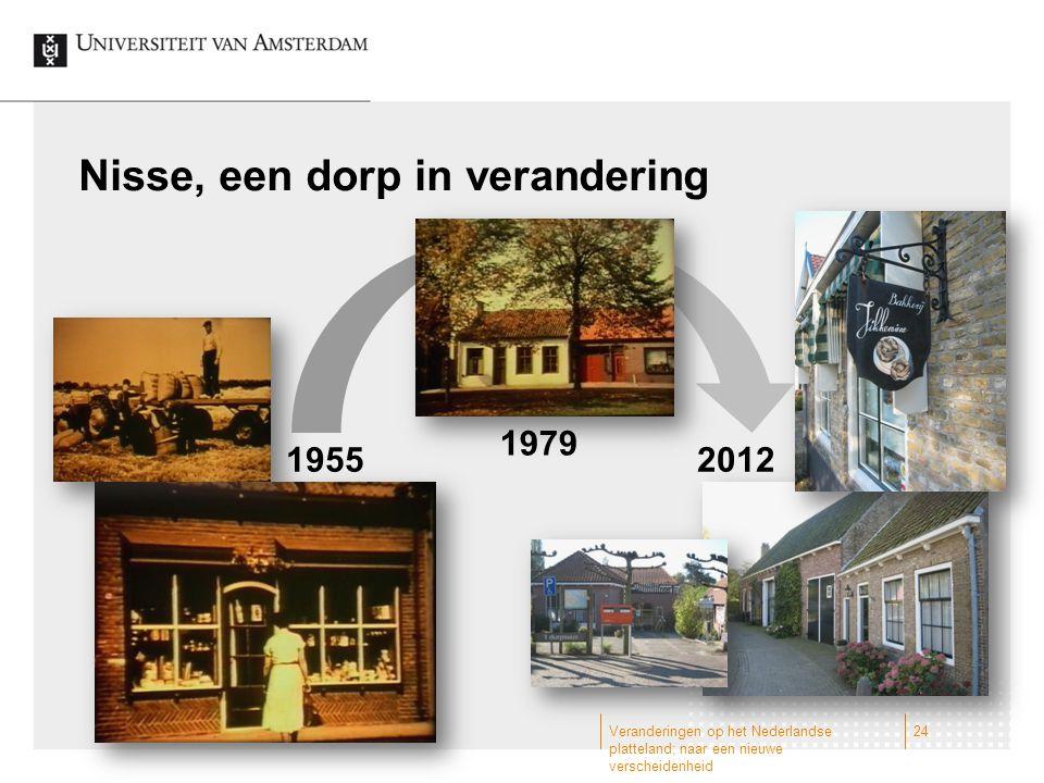 Nisse, een dorp in verandering Veranderingen op het Nederlandse platteland; naar een nieuwe verscheidenheid 24 1955 1979 2012