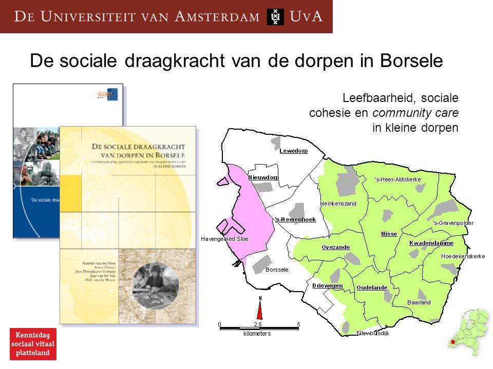 De sociale draagkracht van de dorpen in Borsele Leefbaarheid, sociale cohesie en community care in kleine dorpen
