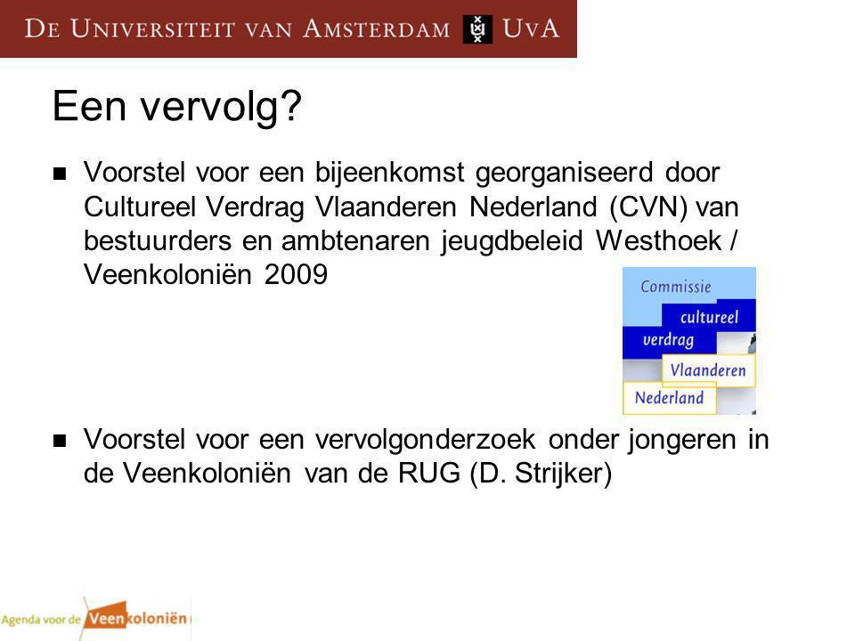 Een vervolg? Voorstel voor een bijeenkomst georganiseerd door Cultureel Verdrag Vlaanderen Nederland (CVN) van bestuurders en ambtenaren jeugdbeleid W