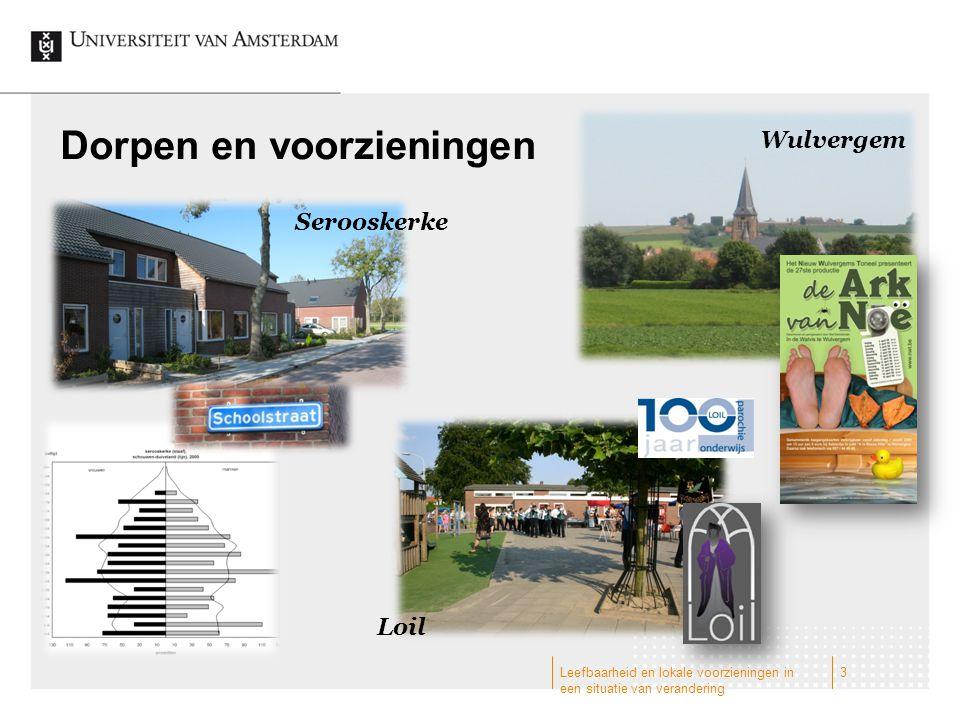 Dorpen en voorzieningen Wulvergem Serooskerke Loil 3Leefbaarheid en lokale voorzieningen in een situatie van verandering