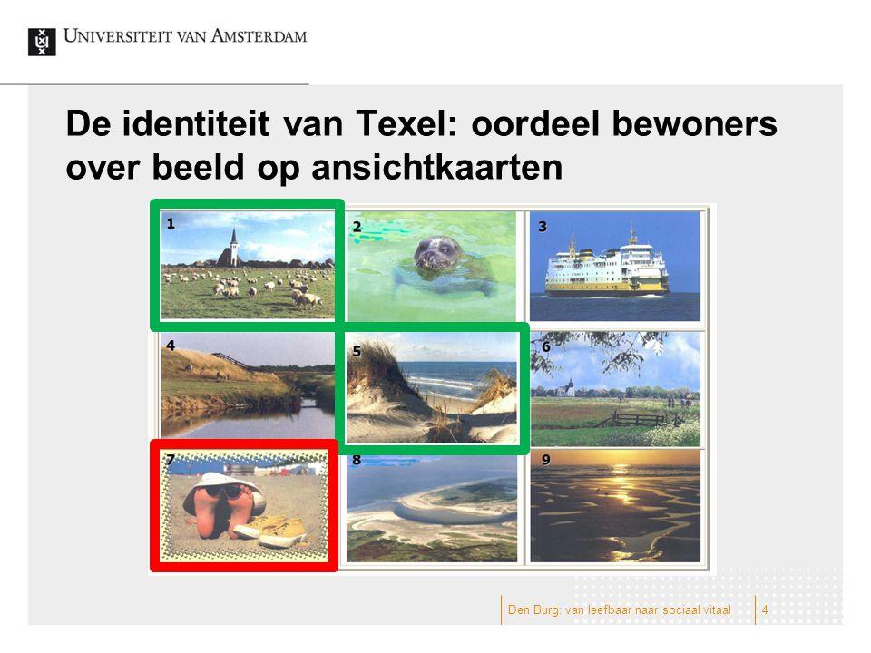 De identiteit van Texel: oordeel bewoners over beeld op ansichtkaarten 4Den Burg: van leefbaar naar sociaal vitaal