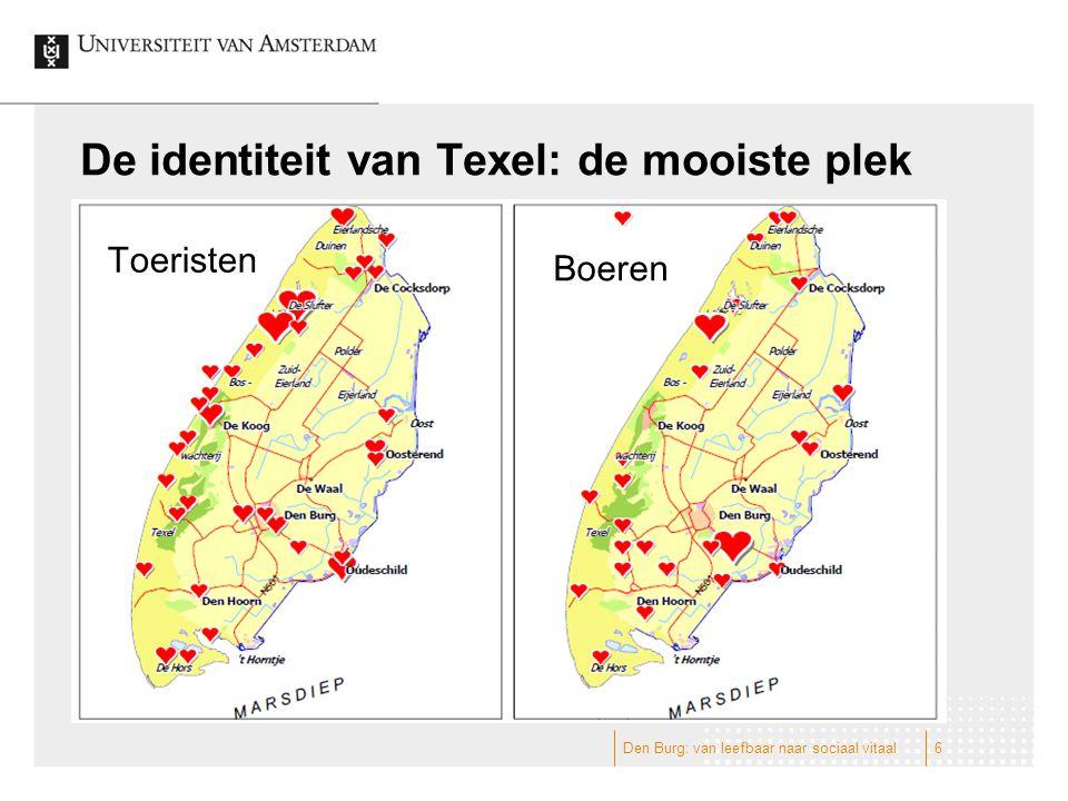 De identiteit van Texel: de mooiste plek Toeristen Boeren 6Den Burg: van leefbaar naar sociaal vitaal