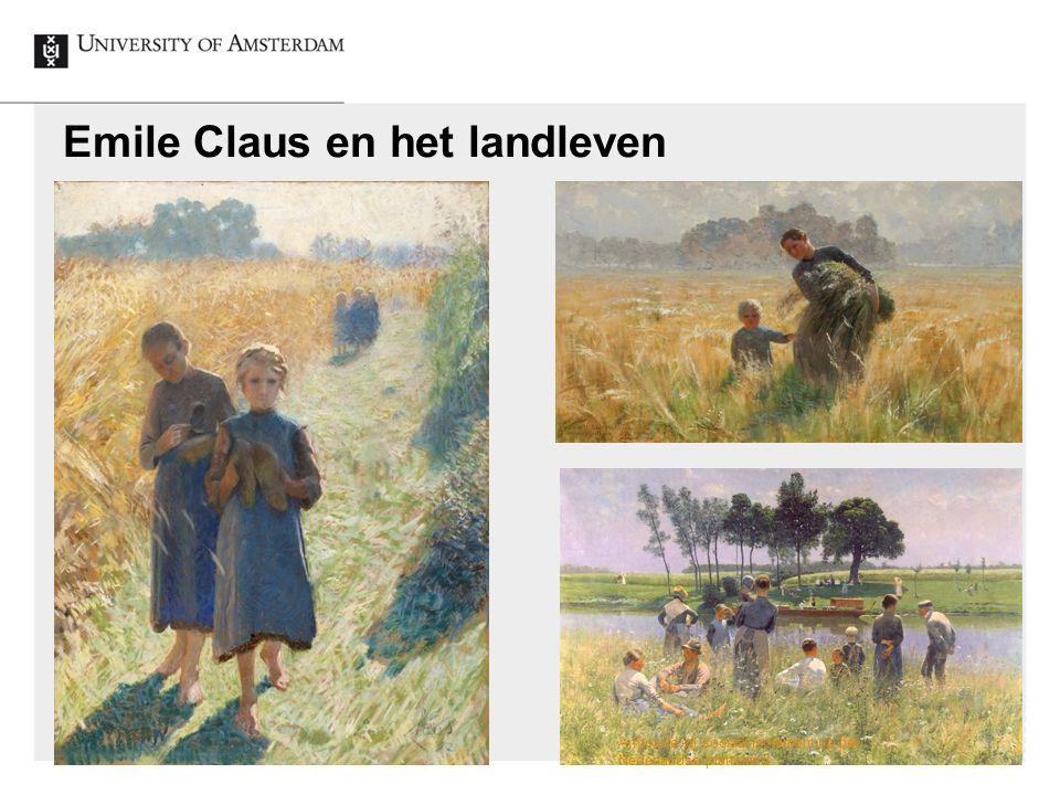 Emile Claus en het landleven Armoede en sociaal isolement op het Nederlandse platteland