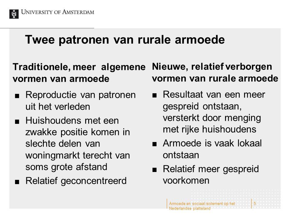 Twee patronen van rurale armoede (C.