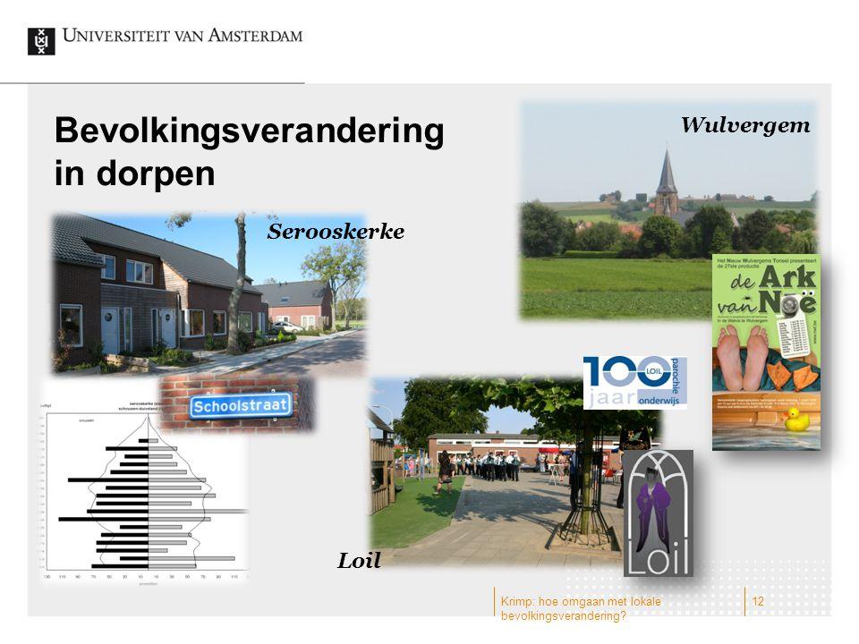 Bevolkingsverandering in dorpen Wulvergem Serooskerke Loil 12Krimp: hoe omgaan met lokale bevolkingsverandering?